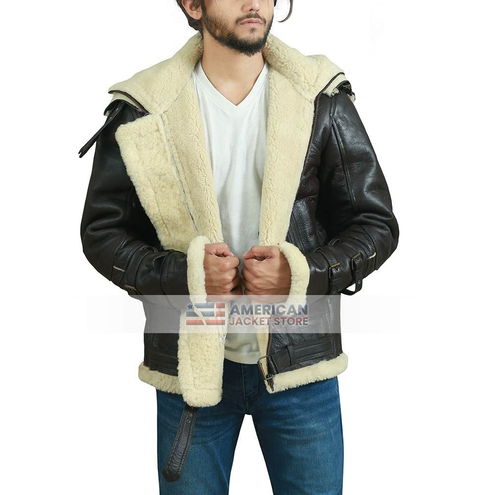 B3 Sheepskin Bomber Leather Jacket